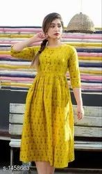 Ladies Elegant Printed Short Anarkali Kurtis