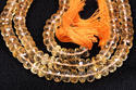 Citrine Faceted Roundel Stone Beads