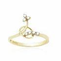 Small Gold Diamond Ring