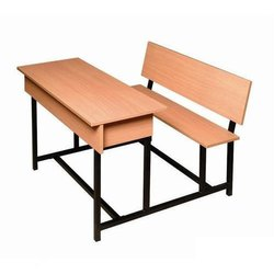 Polished Dual Seater School Desk Bench