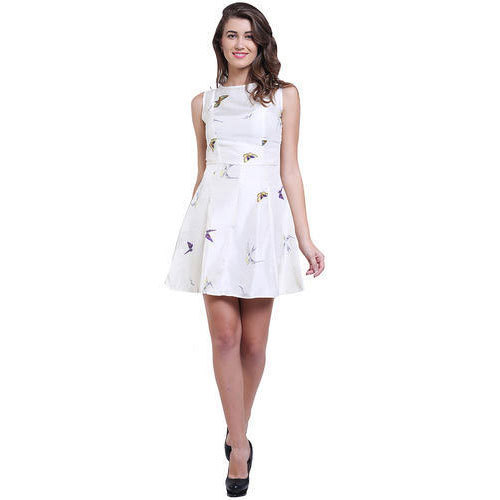 bdaa94a786 Silk Party Wear White Color Printed Raw One Piece Dress, Rs 350 ...
