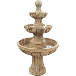 Three Tier Outdoor Stone Fountain
