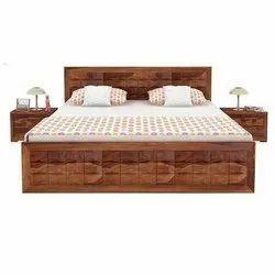 木(框架)卧室木床,尺寸:55 * 75英寸