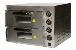 10 kW/h Electric 2 Deck Stone Pizza Oven, For Restaurant