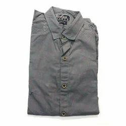 Plain Full Sleeves Cotton Mens Shirt