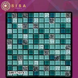 Wall Cladding Designer Sisa Glass Mosaic Tiles, Thickness: 8 mm, Size: 25 X 25 Mm