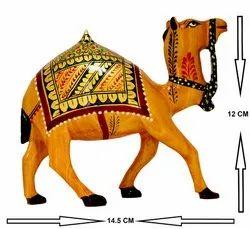 Wooden Camel Handicraft, Size: H 12.00cm X L 14.50cm
