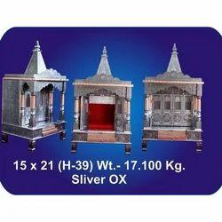 15x21x39 Inch Silver Oxidized Temple