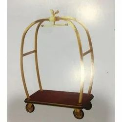 UK Brass Luggage Trolley, For Hotel, Capacity: 20 Kg
