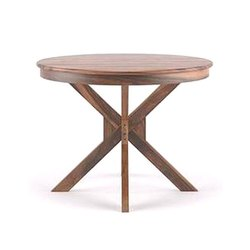 Natural Standard Height Heritage Round Shape Dining Table, 04