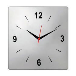 White Plain Square Wall Clock