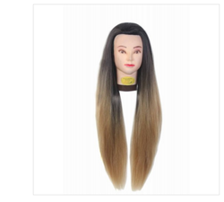 31 Inch Synthetic Hair Practice Dummy Feel Natural Hair Golden Black & Mix Color Hair
