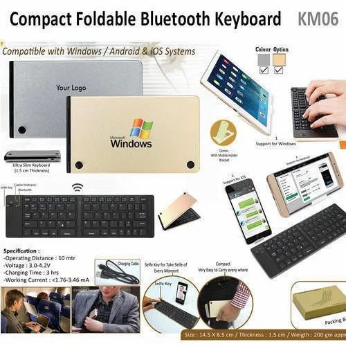 0f8c0eeda73 Compact Foldable Bluetooth Keyboard KM06 at Rs 760.27 /piece ...