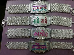Rajwadi Thick Mens Silver Bracelet