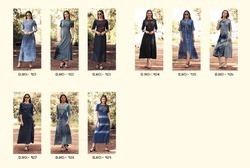 Casual Wear BLUE LEE VOL 3 KAJREE FASHION DENIM FABRIC FULL STITCHED KURTIS