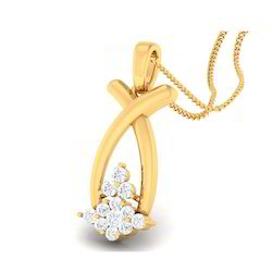 Cool Designed Diamond Gold Pendent
