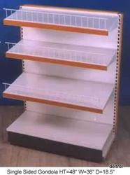 Retail Shelving Single Side Gondola
