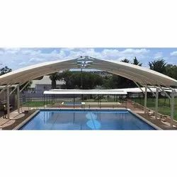 PVC Modular Free Standing Swimming Pool Tensile Cover, Rs 310 ...