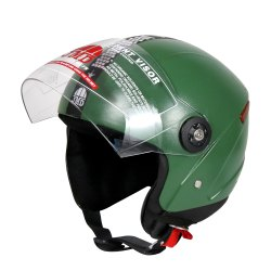 JMD Grand Open Face Helmet (Military Green), Size: M