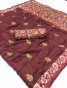Casual Wear Banarasi Pure Linen Digital Printed Saree 6.3 m (with blouse piece)