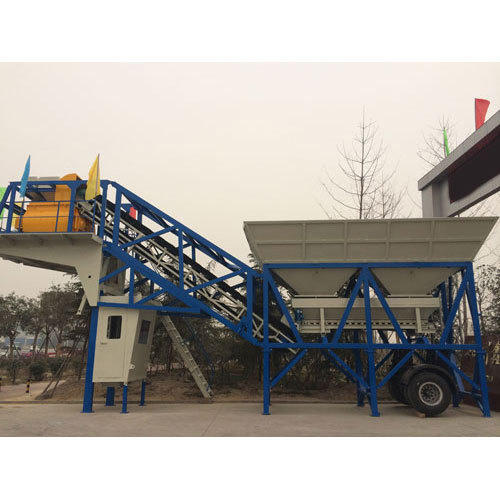 Reverse Drum Mixer Diesel Engine Mobile Plant, For Mixing Concrete, Output Capacity: 480 Liters