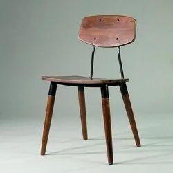 Garud Enterprises Brown Industrial wood metal chair, For Cafe, Size: 45*45*85cm