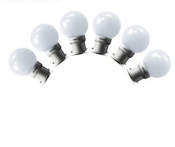 Round Wipro 0.5W Pack Of 6 LED Bulbs, 0.5 W
