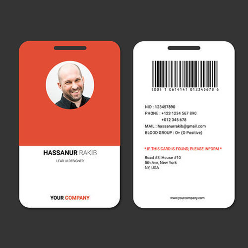 PVC Rectangular Office ID Card