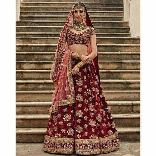 98388c1587 Bridal Velvet Designer Maroon Lehenga, Rs 20000 /piece, Tulsi ...