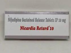 Nicardia Retard 10mg Tablet