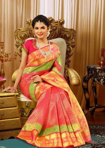 Multicolor Bridal Silk Saree