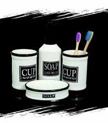 Jeel Impex White 4pcs Ceramic Bathroom Set, For Home, Size: Medium