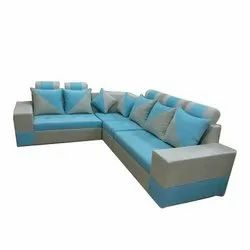 Blue And Grey Wood (Frame material) Sofa Set