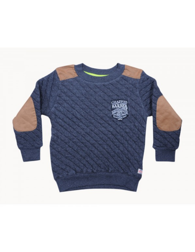d30fdc4d Cotton Round Boys Self Design Full Sleeve T-Shirts Colour GreyMelange