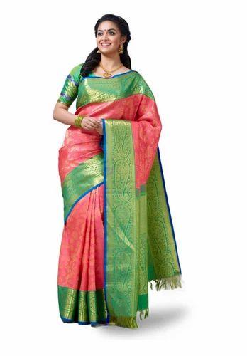 24eaaccfaf Salmon Vivaha Bridal Silk Saree VBBS001, Rs 27995 /piece, Chennai ...
