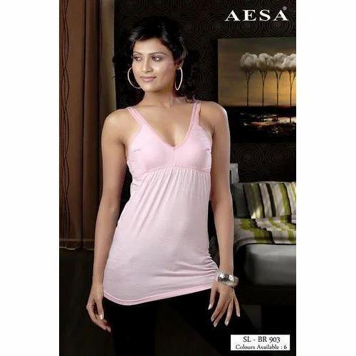 lovely design newest style of best sell Pink Bra Slip Wear