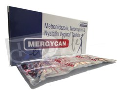 Mergycan Metronidazole, Neomycin & Nystatin Vaginal Tablets