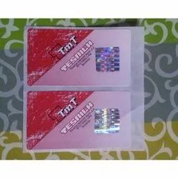 Registered Hologram Paper Labels