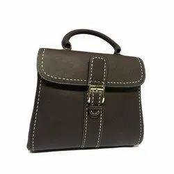Khandelwal Exims Dark Brown Ladies Leather Handbag