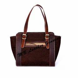 425edaa609 MB Leather Generals Brown Ladies Leather Bag