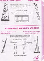 Wall Supported Extendable Ladder