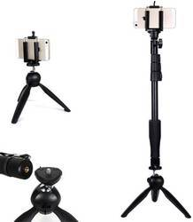 Yunteng 1288, 3 In 1 Kits Monopod Phone Holder Clip Bluetooth Remote Shutter, Length: 1.25m