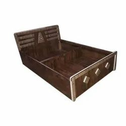 Brown Single Bed, With Box