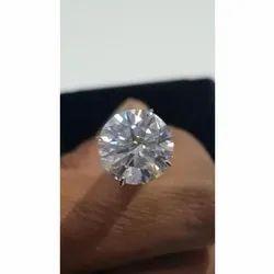 Round White Moissanite Diamond Ring