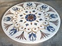 Marble With Gemstone Inlay Table Tops