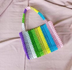 Line Beaded Bag