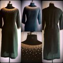 Ladies Black Roud Neck Designer Kurti