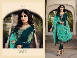 Fiona Multicolor Designer Georgette Embroidered Salwar Suit