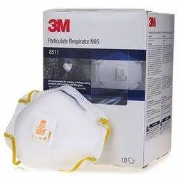 3M 8511 N95 Valve Respirator Mask
