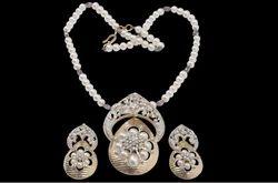 White & Golden Women Diamond Necklaces